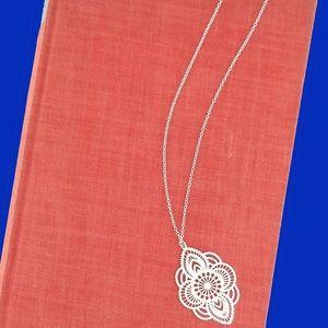 🆕Gold Boho Morocco Filagree Medallion Necklace